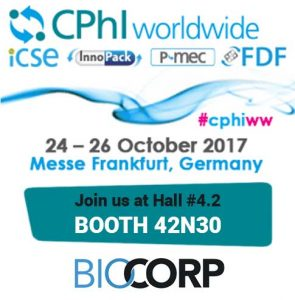 biocorp cphi booth 42M21 event
